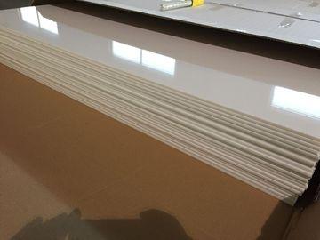 चीन आइवरी व्हाइट पीवीसी छत पैनलों प्लास्टिक छत टाइल्स की चमकदार तेल 603 मिमी x 1210 मिमी वितरक